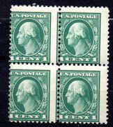 Lot Timbre N°182 Bloc De 4   - Neuf** -piquage Defectueux - Etats Unis D'Amérique - 1847-99 General Issues