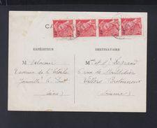 Carte Postale 1944 Joinville - Poststempel (Briefe)