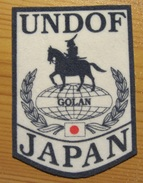 Contingent Japonais De La FNUOD (Plateau Du Golan) - UNDOF Japanese Contingent - Ecussons Tissu