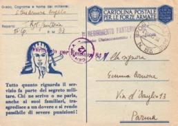 VENDO N.1 CARTOLINA POSTALE PER LE FORZE ARMATE DEL I REGGIMENTO FANTERIA CON POSTA MILITARE N.93 - Guerra 1914-18