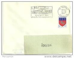 CHARENTE - Dépt N° 16 = RUFFEC 1967 = FLAMME Codée = SECAP ' Les PTT Vous Offrent SITUATIONS ... ' - Marcophilie (Lettres)