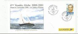 LA POSTE , 4 éme Vendée Globe 2000-2001, Départ Le 5 Novembre 2000 , Les Sables D'Olonne , Aquarelle De C. Blandineau - Segeln