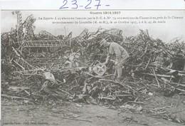 Militaria : Le Zeppelin Abattu En Flammes, Près De St- Clément   ( Lunéville ) - Guerra 1914-18