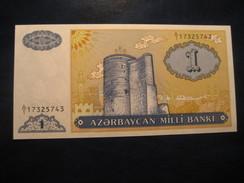 1 Manat AZERBAIJAN Azerbaidjan Unused UNC Banknote Billet Billete - Azerbaïdjan