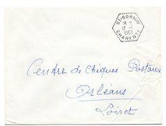 CHARENTE - Dépt N° 16 = St SORNIN 1963 = CACHET MANUEL HEXAGONAL Pointillé F7 = Agence Postale + FRANCHISE - Bolli Manuali