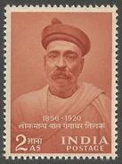 INDIA STAMPS, 23 JUL 1956, BAL GANGADHAR TILAK, MNH - 1950-59 Republic