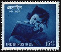 INDIA STAMPS, 14 NOV 1957, CHILDREN'S DAY, MNH - 1950-59 Republic