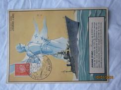 LE  /  CROISEUR ECOLE JEANNE D'ARC- Salon De La Marine - PARIS - 9 Juin 1944 - Cartas Máxima