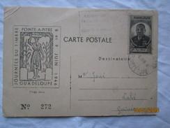 LE  /  Journée Du Timbre Pointe à Pitre - GUADELOUPE - 8 Et 9 Juin 1946 - Groupement Philatélique Antillais - Cartas Máxima