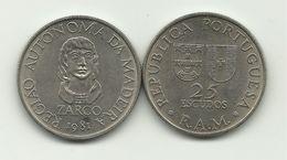MADEIRA - 25 ESCUDOS - KM#4 - REGIONAL AUTONOMY - 1981. - Portugal