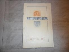Winterverzameling 1941 Programma Dietsche Meisjesscharen - Staf De Clercq  Dietsche Jeugd N.S.J. Vlaanderen - War 1939-45