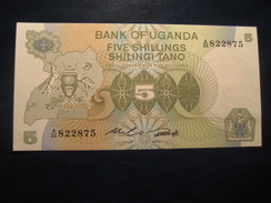 5 Shillings UGANDA Ouganda Unused UNC Banknote Billet Billete - Ouganda