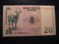 20 C 1997 CONGO Unused UNC Banknote Billet Billete - Congo