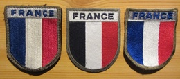 3 Insignes Tricolores FRANCE - Patches