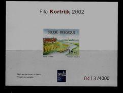 Belgie - Belgique NA  - Postfris - 2002 -  Fila Kortrijk - Genummerd 4000 Ex. - Belgique
