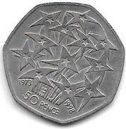 *Great Britain 50 Pence 1998  Km 992  Xf+ - 1971-… : Monnaies Décimales