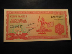 20 Francs 2007 BURUNDI Unused UNC Banknote Billet Billete - Burundi