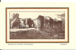 Opprebais (1315) : Ruines Du Château D'Opprebais. CPA. - Incourt
