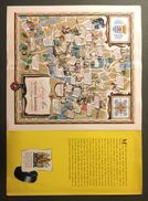 """07142 """"LONDRA - A DUNLOP MAP - OF CENTRAL LONDON-AND ITS LITERARY ASSOCIATIONS"""" MAPPA ORIG. - Roadmaps"""