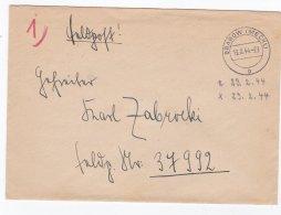 Feldpost WW2: To Gruppe Geheime Feldpolizei 716 FP 37992 P/m Grabow (Meckl) 13.2.1944 - Letter Inside. Duty At 286. Sich - 2. Weltkrieg