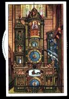 CPA FANTAISIE A SYSTEME- CATHEDRALE DE STRASBOURG- HORLOGE ASTRONOMIQUE AVEC DISQUE IMAGES TOURNANTES-  GROS PLAN - Dreh- Und Zugkarten