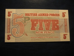 5 P BRITISH ARMED FORCES Unused UNC Banknote Billet Billete - Altri