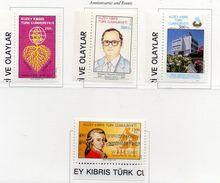 PIA  -  CIPRO  TUR.  -  1991  : Anniversari Ed Avvenimenti -  (Yv  292-95 ) - Cipro (Turchia)