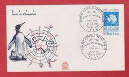 Enveloppe Premier Jour / T A A F  / Traité Sur L'Atlantique / Dumont D'Urville - Terre Adélie / 23-6-81 - FDC