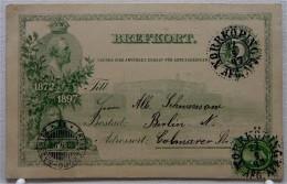 Ganzsache Von 1897 - Schweden