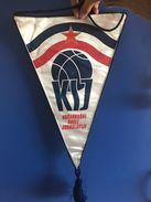 BASKETBALL YUGOSLAVIA  OFFICIAL BIG PENNANT 55 X 32 Cm - Sports
