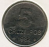 Brésil Brazil 5 Cruzeiros 1982 KM 591 - Brazil
