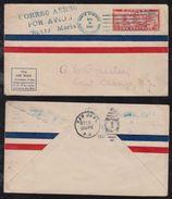Dominican Republic 1927 FFC First Flight Cover SANTO DOMINGO To SAN JUAN Puerto Rico - República Dominicana