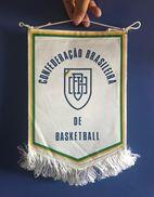 BASKETBALL BRAZIL   OFFICIAL  PENNANT 34 X 22 Cm - Sports