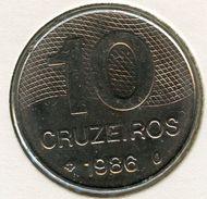 Brésil Brazil 10 Cruzeiros 1986 KM 592.2 - Brazil