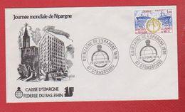 Enveloppe Premier Jour / Journée Mondiale De L'épargne   / Strasbourg / 29-10-76 - 1970-1979
