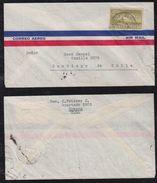 Kuba Cuba 1934 Airmail Cover HABANA To SANTIAGO Chile - Cuba