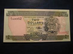 2 Dollars SOLOMON ISLANDS Unused UNC Banknote Billet Billete - Salomons