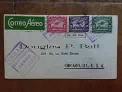 ECUADOR - Busta Di Posta Aerea Viaggiata Nel 1929 Dall'Ecuador Agli U.S.A. Via Zona Del Canale + Spese Postali - Ecuador