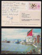 Trinidad 1982 Picture Postcard To WILDENROTH Germany Flower Stamp - Trinidad & Tobago (1962-...)