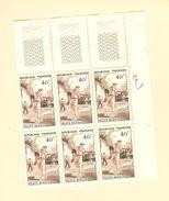 HB-P 342 France 6 Timbres Coin > Droit YT N°1073 Pelote Basque 1956 Neuf** Sans Charnière - Départ à 10% De La Cote - France