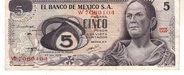 Mexico P.62  5  Pesos 1972 Vf - Messico