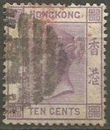 Hong Kong  - 1880 Queen Victoria 10c Used   SG 30  Sc 14 - Hong Kong (...-1997)