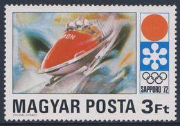 Hungary Ungarn 1971 Mi 2726 A ** Four-man Bobsleighing / Vierenbob - Bobsport - Winter Games Sapporo '72 - Winter 1972: Sapporo