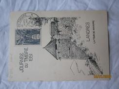 LE  /   Journée Du Timbre 10 Mars 1951 - LANGRES - La Tour De Navarre - 1950-59