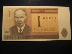 1 Kroon 1992 ESTONIA Estonie Unused UNC Banknote Billet Billete - Estonie