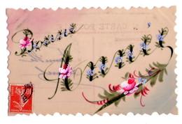F06 - Bonne Année En Celluloïde Peinte à La Main - Cartes Postales
