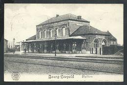 +++ CPA - LEOPOLDSBURG - BOURG LEOPOLD - Statie - Station - Gare   // - Leopoldsburg