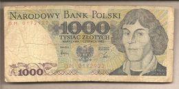 Polonia - Banconota Circolata Da 1000 Zloty - 1982 - Polonia