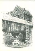 Føroyar; 2 Ink Drawing Postcards Tórshavn - Not Circulated. (Helge Justinussen Bókhandil - Tórshavn) - Faroe Islands
