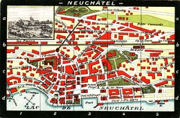 Neuchatel - Plan - NE Neuchâtel